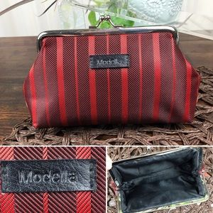 Grandma's Vintage Black and Red Stripe Coin Purse